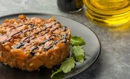 Tartare соус от семги Стоковые Фотографии RF