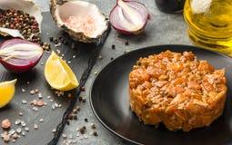Tartare соус от семги Стоковое фото RF
