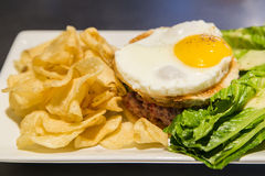 Tartare de boeuf angus Royalty Free Stock Photography