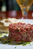 Tartare di bistecca Fotografia Stock