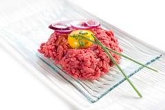 Tartare on dish Stock Image