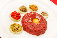 Tartare on dish Royalty Free Stock Photo