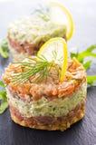 Tartare with Salmon and Avocado Royalty Free Stock Photo
