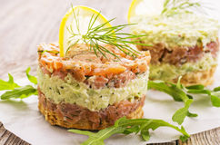 Tartare with Smoked Salmon Stock Images