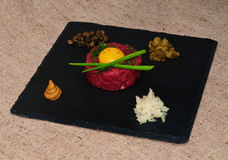 Tartare steak. Royalty Free Stock Photos