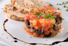 tartare tomate för de Fotografering för Bildbyråer