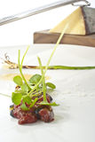 Tartare of Wild Venison. Gourmet Appetizer of Wild Venison Tartare Royalty Free Stock Photography