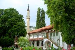 Tartarian khan's palace. Minaret and ancient mosque in at tartarian khan's palace Royalty Free Stock Images