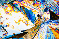 Tartaric acid crystals in polarized light Royalty Free Stock Photos