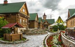 TARTARISTÃO, RÚSSIA - 12 DE JULHO DE 2015: Vila Tatar na cidade Kazan, Tartaristão, Rússia Imagem de Stock Royalty Free