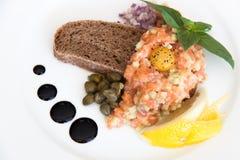 Tartaro di color salmone fotografie stock libere da diritti