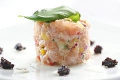 Tartaro di color salmone Immagine Stock