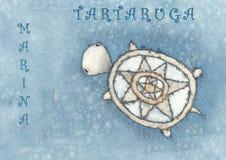 tartaruga μαρινών απεικόνιση αποθεμάτων