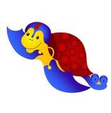 Tartaruga allegra volante. Immagine Stock