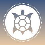 Tartaruga australiana do estilo do vetor em um fundo natural Foto de Stock