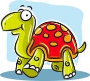 Tartaruga con le coperture rosse Fotografia Stock