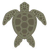 Tartaruga de mar verde ilustração royalty free