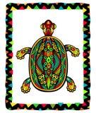 Tartaruga decorata luminosa royalty illustrazione gratis