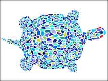 Tartaruga del mosaico Fotografia Stock Libera da Diritti
