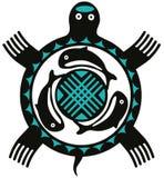 Tartaruga del totem illustrazione vettoriale