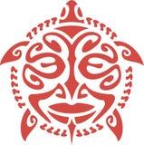 Tartaruga della maschera isolata su bianco Fotografia Stock Libera da Diritti