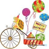 Tartaruga di compleanno illustrazione di stock