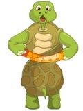 Tartaruga divertente. Dieta. Fotografia Stock Libera da Diritti