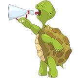 Tartaruga divertente. Grida. royalty illustrazione gratis