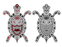 Tartaruga do vetor, estilo da tatuagem Imagem de Stock