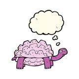 tartaruga dos desenhos animados com bolha do pensamento Fotografia de Stock