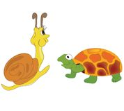 Tartaruga e caracol Ilustração do Vetor