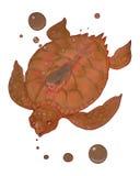 Tartaruga e piccola sirena Immagini Stock Libere da Diritti