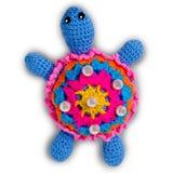 Tartaruga feita malha do brinquedo Imagens de Stock Royalty Free