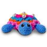 Tartaruga feita malha do brinquedo Fotografia de Stock