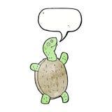 tartaruga feliz dos desenhos animados com bolha do discurso Foto de Stock Royalty Free