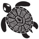 Tartaruga gráfica decorativa, animal tribal do totem, illustra Foto de Stock Royalty Free