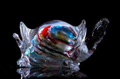 Tartaruga multicolorido no vidro: objeto fotos de stock royalty free