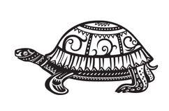 Tartaruga ornata etnica Immagine Stock Libera da Diritti