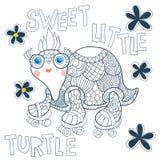Tartaruga pequena Ilustração do Vetor