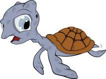 Tartaruga pequena. Desenhos animados Fotos de Stock Royalty Free