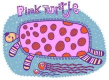 Tartaruga rosa Immagine Stock Libera da Diritti
