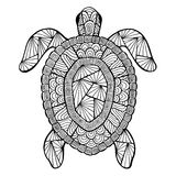 Tartaruga stilizzata di vettore, zentangle illustrazione vettoriale