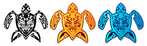 Tartaruga tribal Foto de Stock Royalty Free