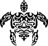 Tartaruga tribal da tatuagem Foto de Stock Royalty Free