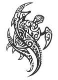 Tartaruga tribale con Wave Fotografia Stock