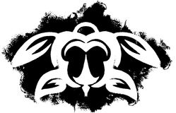 Tartaruga tribale di Grunge Fotografie Stock Libere da Diritti