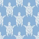Tartarugas de mar Teste padrão sem emenda do vetor Foto de Stock