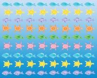 Tartarugas e peixes Fotografia de Stock Royalty Free