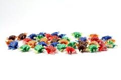 Tartarughe di carta isolate Fotografia Stock