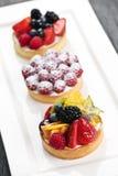 Tartas de la fruta Foto de archivo